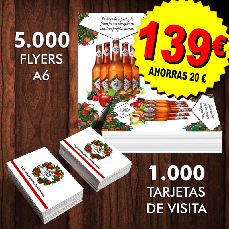 Tarjetas de visita y Flyers folletos Las Palmas