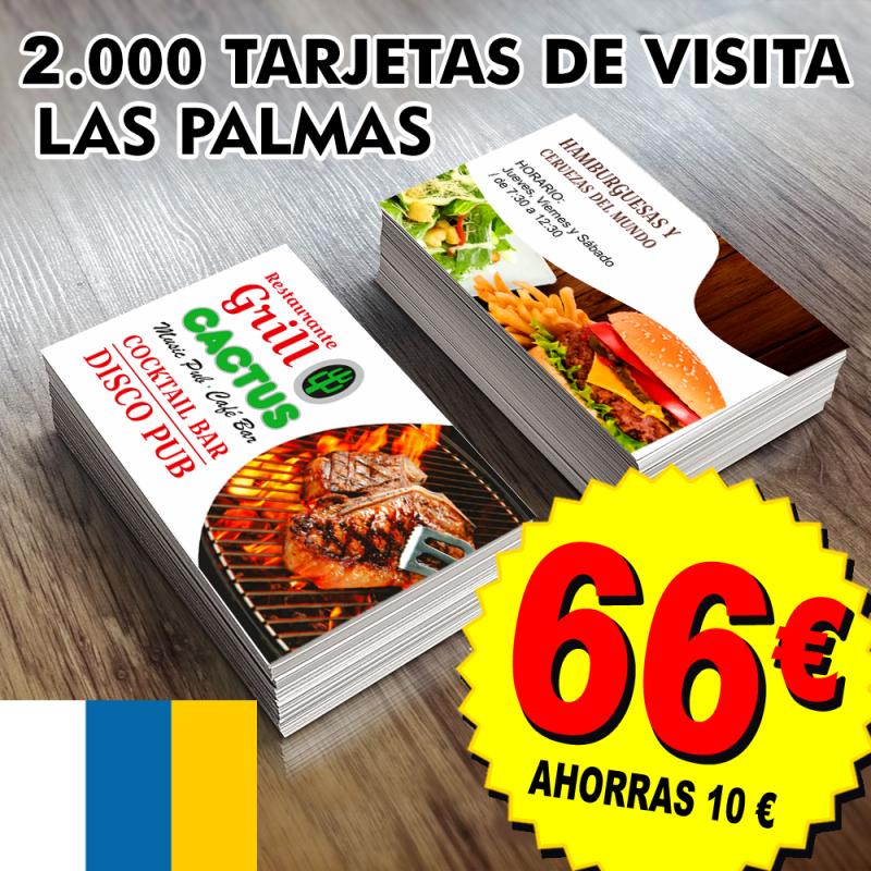 Tarjetas de visita Las Palmas