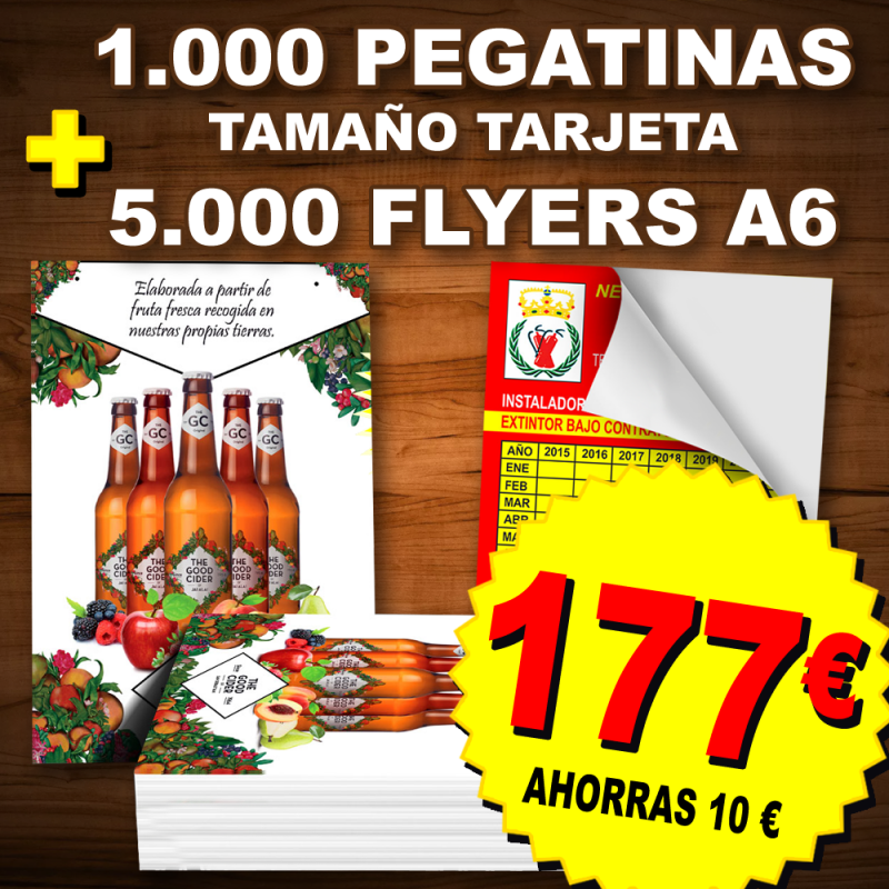Flyers folletos y pegatinas adhesivos Las Palmas